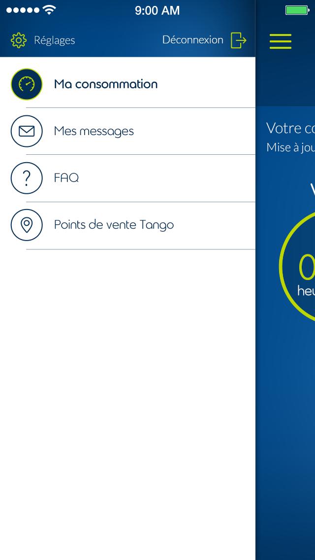 Tango App - My Tango - Fonctionnalités